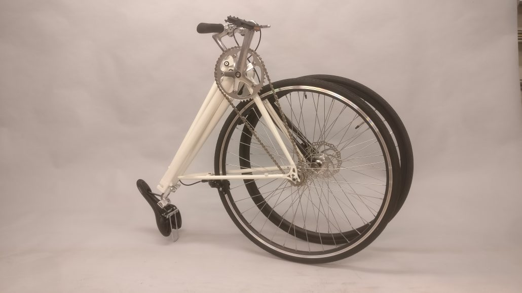 Folded bike white